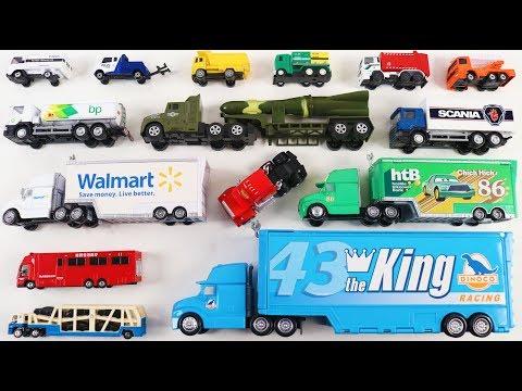 Trucks for kids | Disney Pixar Mack, Dinoco, Chick hick Hauler for kids | Video for Kids Children