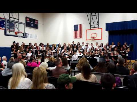 Middle School in Somersworth, New Hampshire singing Indonesian traditional and national songs
