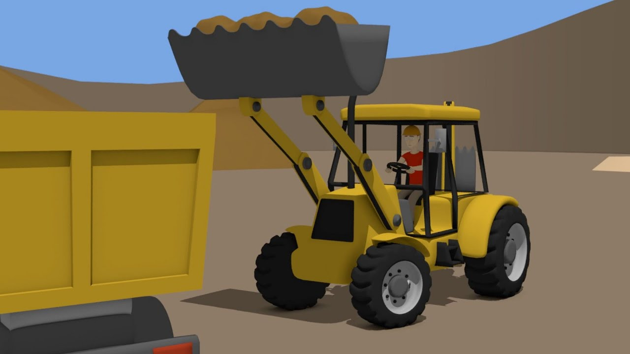 Backhoe Loader and #Truck | Street Vehicles for Baby ...