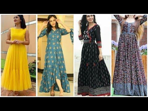 Trendy Long Cotton Maxi Dresses Designs Collection