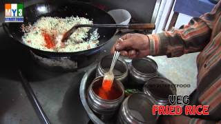 Veg Fried Rice - Street Food Around The World - Hyderabad