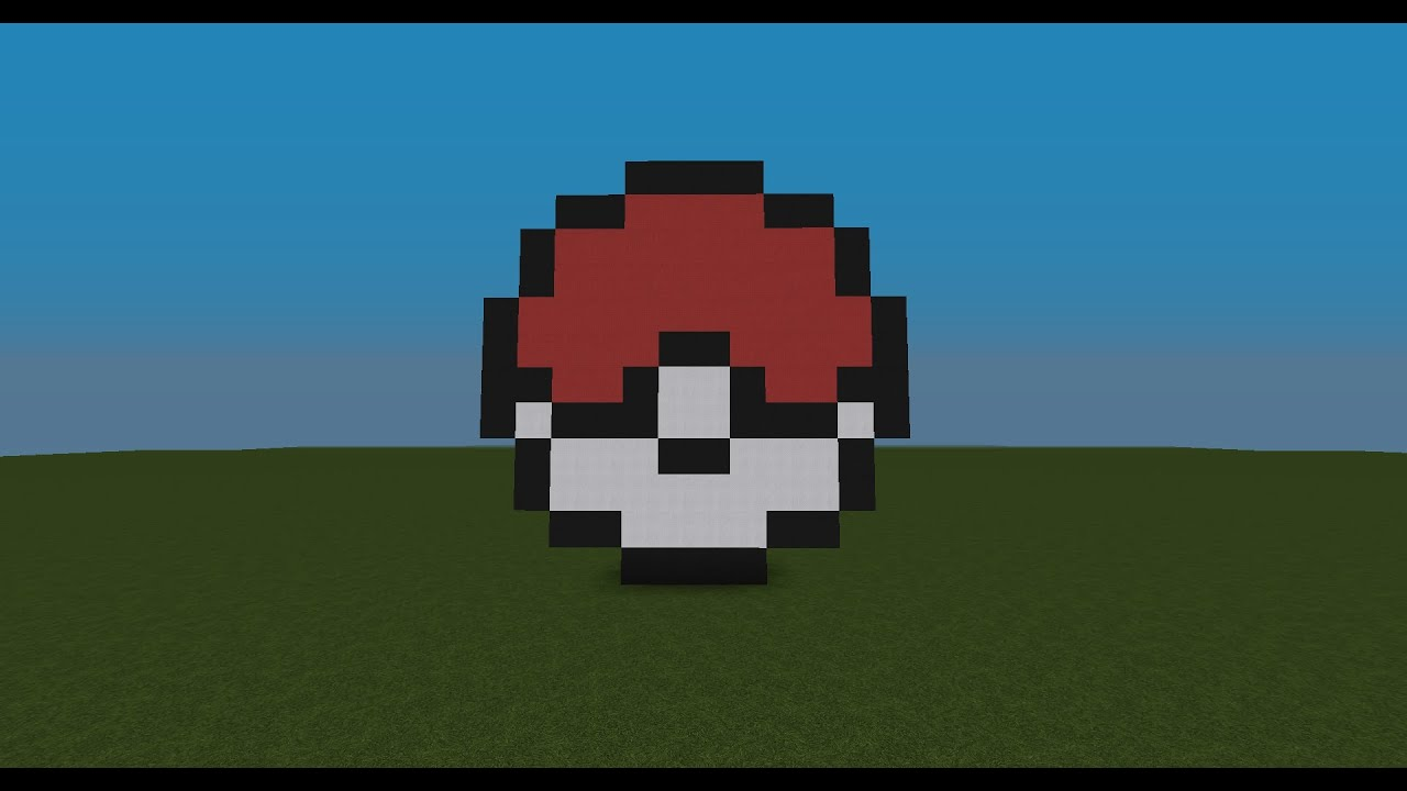 Minecraft Tutorial EP33 How To Make A Pokeball Statue