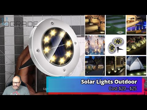 Solar Lights Outdoor for Patio Pathway Garden Lawn Yard Driveway