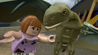 LEGO Jurassic World - 100% Level Guide #9 - Under Attack (All 10 Minikits/Amber Brick)