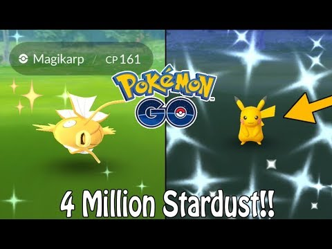 pok mon go shiny magikarp pikachu kanto celebration event recap 1000 machop candy. Black Bedroom Furniture Sets. Home Design Ideas