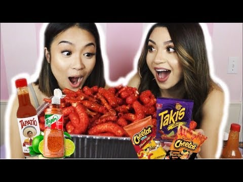 TAKIS AND XXTRA HOT CHEETOS CHALLENGE