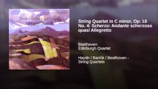 String Quartet in C minor, Op. 18 No. 4: Scherzo: Andante scherzoso quasi Allegretto