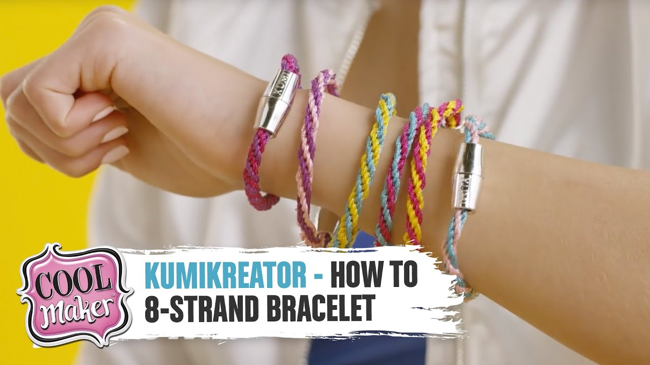 Cool Maker | KumiKreator | How to Make an 8-Strand Bracelet