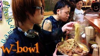 大食い→富士丸西新井店で麺増し大らーめん全マシマシを食べた。Eating Giant garlic ramen withらすかる full eng sub thumbnail