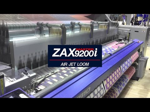TSUDAKOMA AIRJET PRODUCING BROCADE FABRIC AT EXTREME SPEED ON ITMA 16
