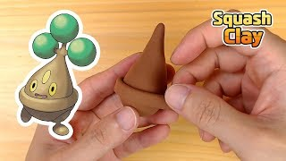 So Easy! How to Make Cute Bonsly Rock-type baby Pokémon in air dry clay