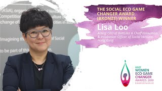 Lisa Loo, CEO of BottLess - 2019 GGEF Social Eco Game Changer Award (Bronze) Winner