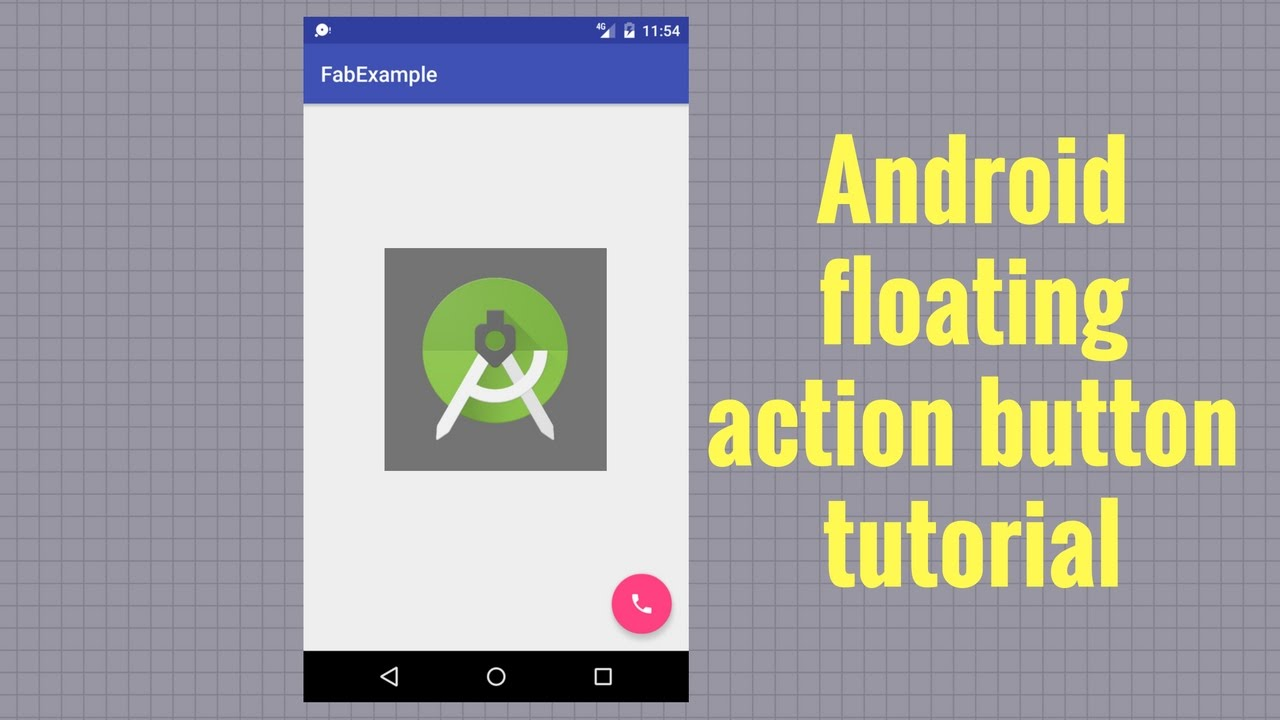 Android floating action button tutorial