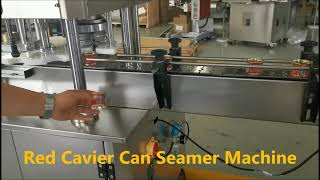 레드 캐비어 캔 시머 기계, 칠리 소스 캐니스터 시밍 …