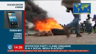 Social media shutdown in Zimbabwe
