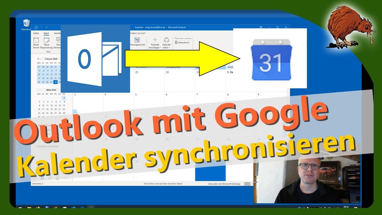 outlook mit google kalender synchronisieren