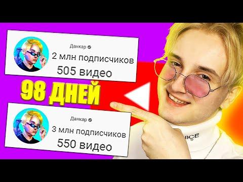 Видео: ✅ я набрал 1 000 000 подписчиков за 98 дней