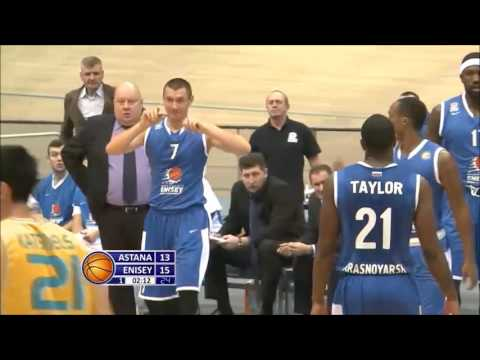 ROBERT LOWERY (#3 yellow) vs. Enisey-VTB League