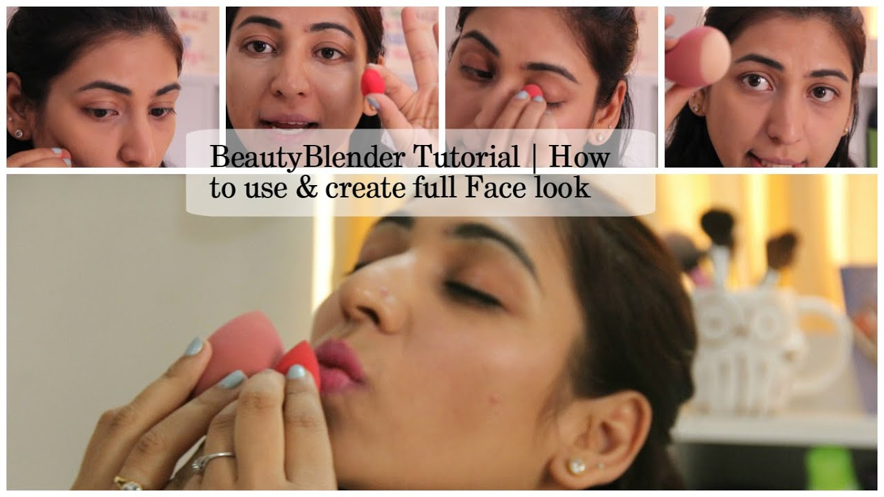 beautyblender tutorial | full face makeup | different ways to use