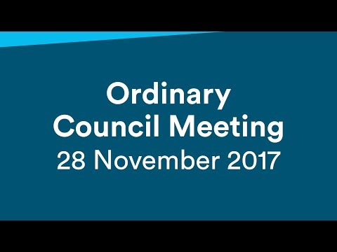 Ordinary Meeting - 28 November 2017