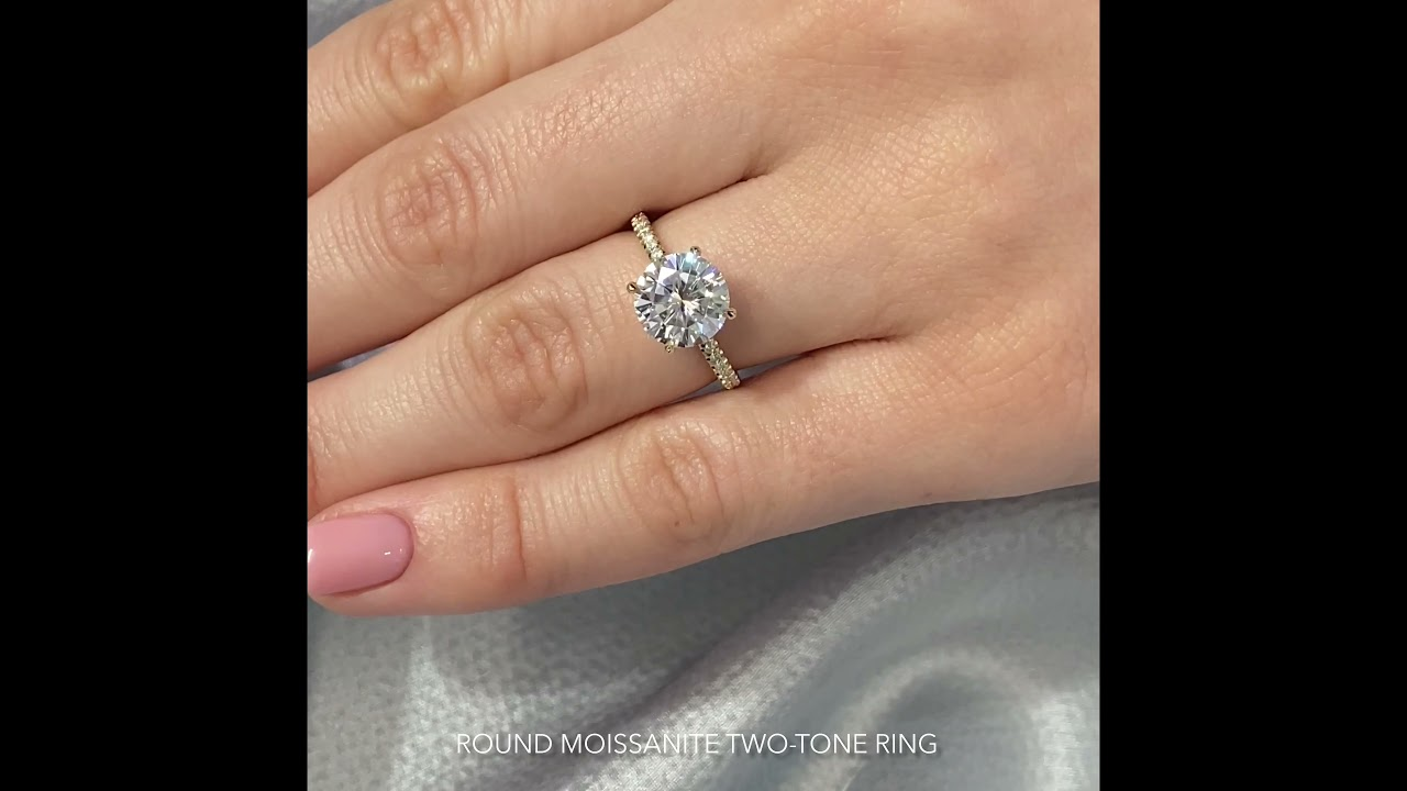 Round Moissanite Double Signature Wrap Engagement Ring