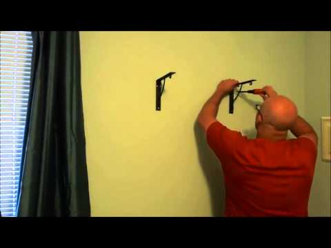 Installing Wood Shelf On The Wall With Ckets