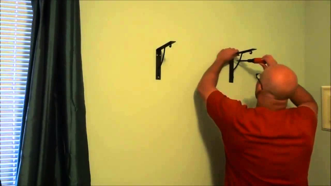 Installing A Wood Shelf On The Wall (With Brackets) - YouTube