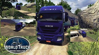 World Truck Driving Simulator (WTDS) android gameplay Video #01. Iveco Hi-Way screenshot 4