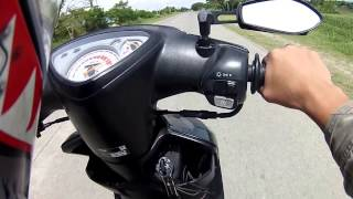 GPS: Olin Yamaha Mio 137cc bore up topspeed