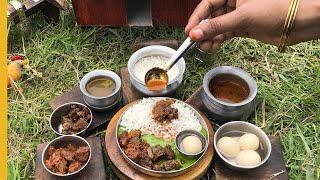 E#96 | Miniature Mutton Thali | Full Mutton Sapadu Recipe | Miniature Cooking