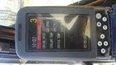 Kobelco gauge cluster multi display, service diagnosis, engine off