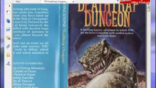 Let's Play Deathtrap Dungeon (Fighting Fantasy Game Book) Part 1