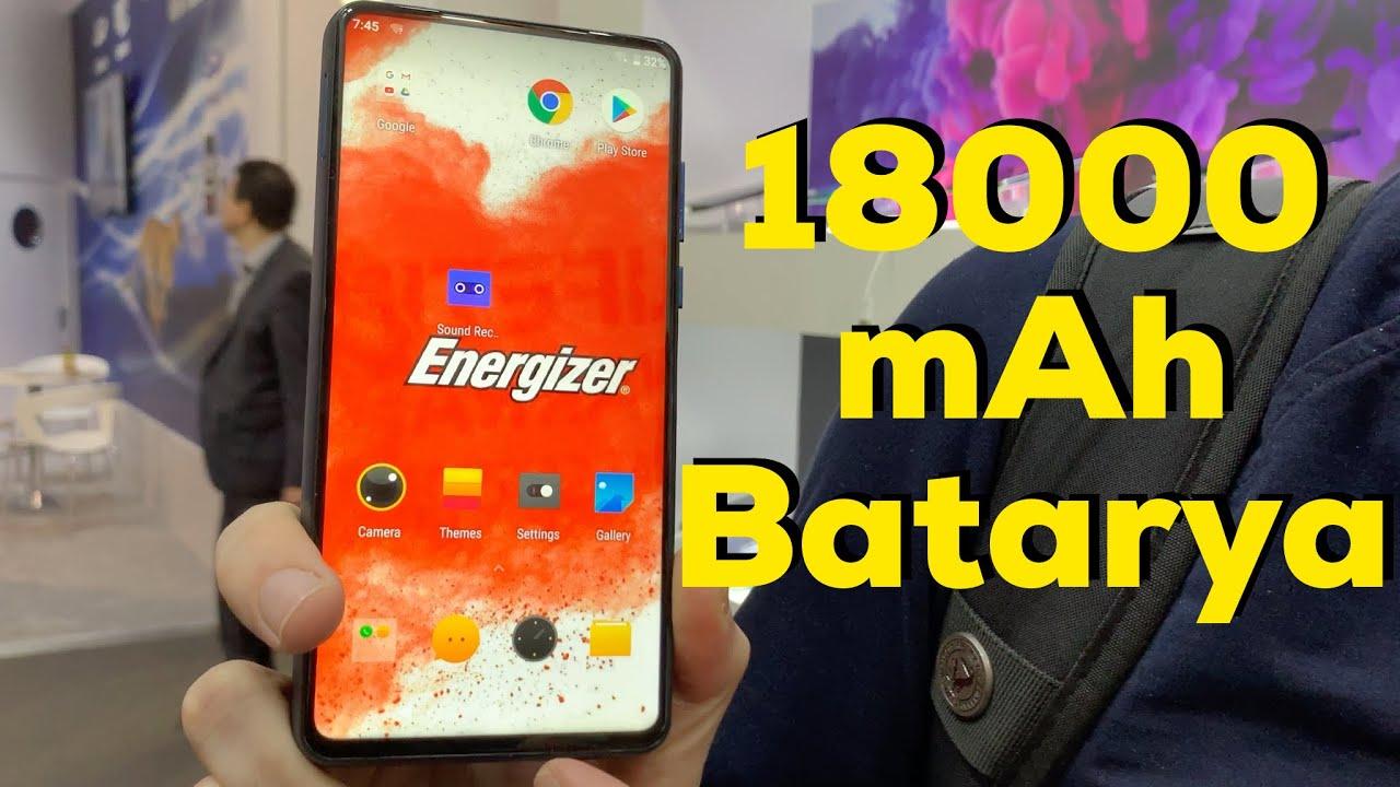 Çerçevesiz ve 18.000mAh bataryalı telefon   Energizer Power Max P18K Pop