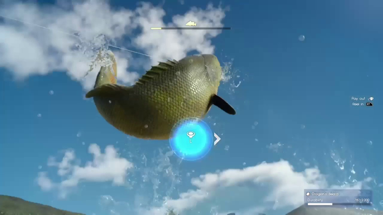 Final fantasy xv fish to survive youtube for Final fantasy 15 fishing
