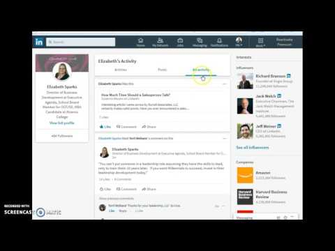 LinkedIn - See your activity