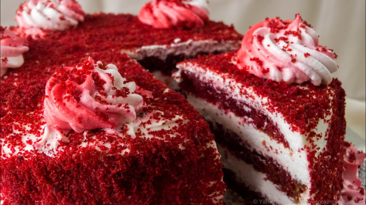 Red velvet cake recipe egg free cooker cake eggless baking red velvet cake recipe egg free cooker cake eggless baking without oven youtube forumfinder