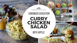 The best CURRY CHICKEN SALAD with Apple!!!!
