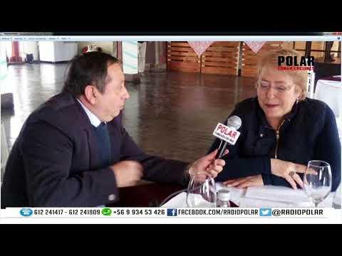 ALFREDO VERA  ENTREVISTA   MICHELE BACHELET JERIA PRESIDENTA DE LA REPUBLICA DE CHILE