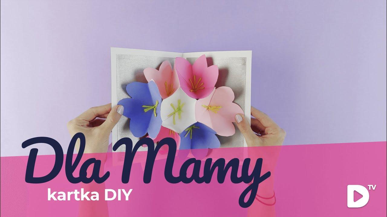 W superbly Ręcznie robiona kartka na Dzień Matki | DIY Domodi TV - YouTube AW36