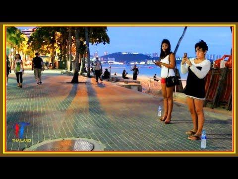 Night walk along the Beach Road, Pattaya, October 2017, Vlog 156