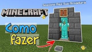 ⭐️Como fazer Selecionador de Suporte Armadura no Minecraft 1.2