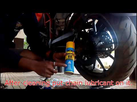 How to clean and lube your KTM chain | KTM DUKE 250