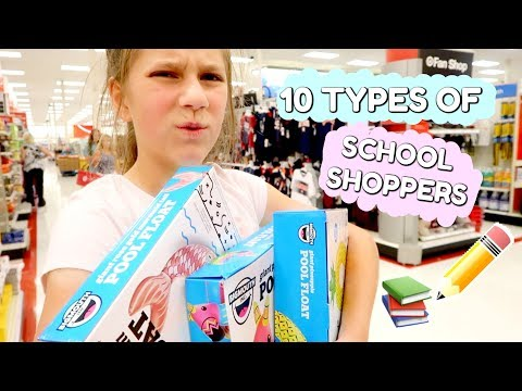10 Types of people Back To School Shopping