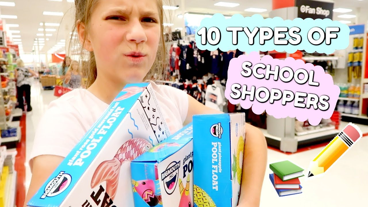 Download 10 Types of people Back To School Shopping