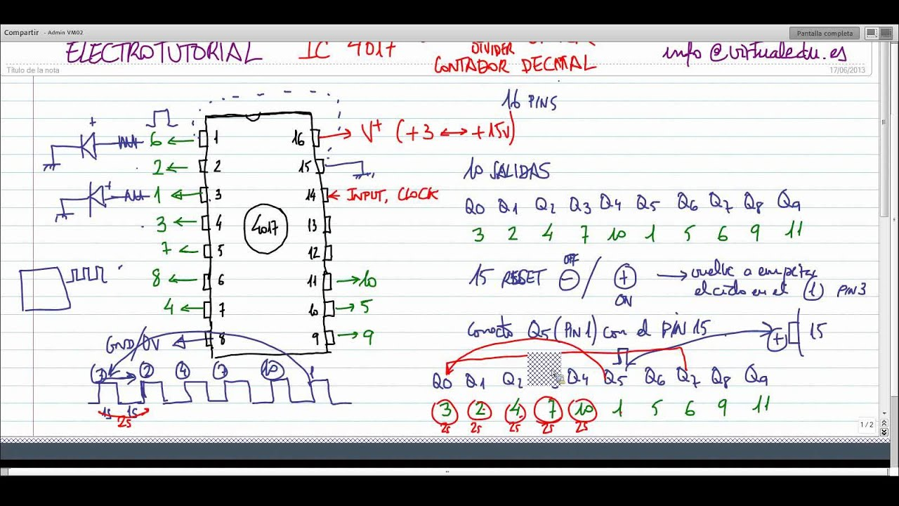 ElectroTutorial 154 IC 4017 Decade Counter - YouTube