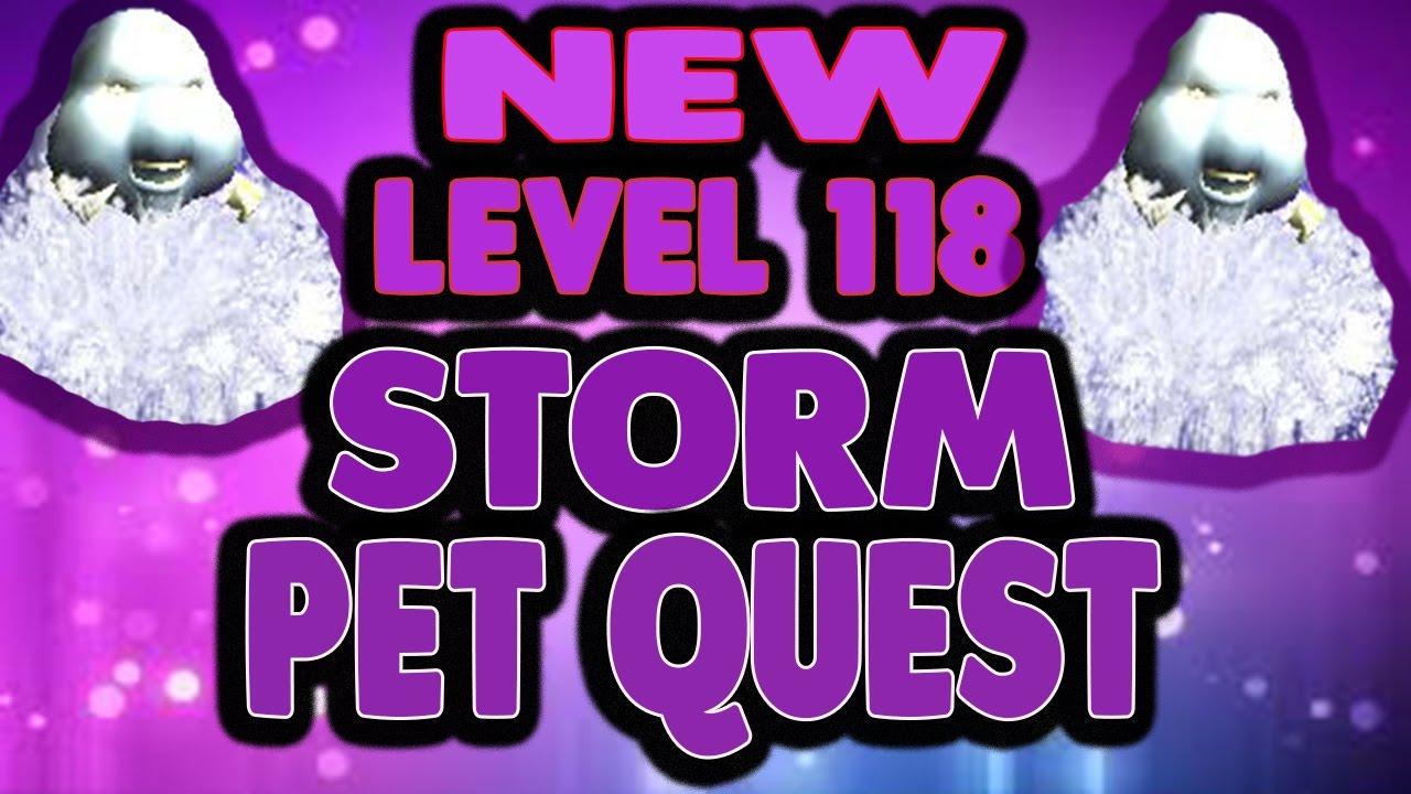 Wizard101 New Level 118 STORM Pet Quest! NEW RAIN CORE PET PREVIEW!