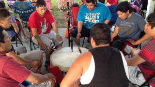 Eagle Feather Flag Song at Potawatomi Powwow 2014