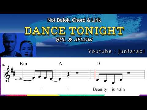 Dance Tonight BCL & JFLOW Asian Games  - not balok , chord dan lirik - instrumental by junfarabi