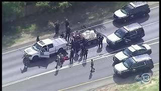 Police Chase Truck w/ Trailer through Dallas and Denton