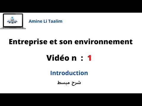Introduction de l'entreprise et son  environnement ( Darija )